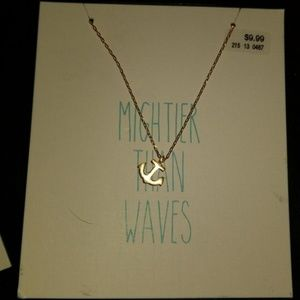 Jewelry - Mightier than Waves Anchor Gold toned necklace